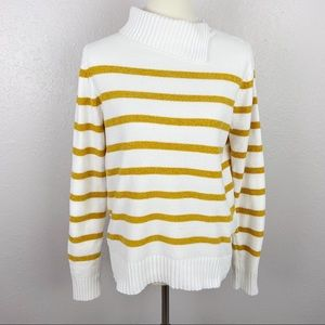 English Factory Chenille Striped Sweater